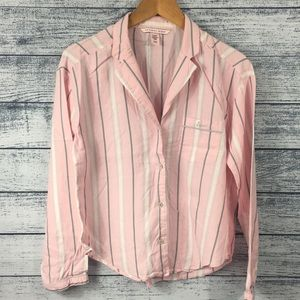 Victoria Secret Flannel Pink Pajama Button Down